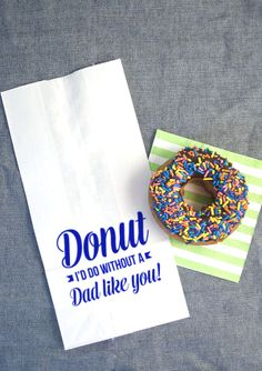DIY FATHER'S DAY DONUT BREAKFAST-FREE PRINTABLE