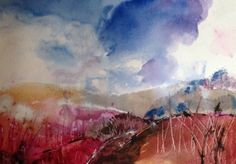 Watercolour by Sonya Tatham Sussex Downs