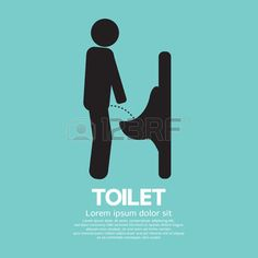 Men Toilet Sign Vector Illustration