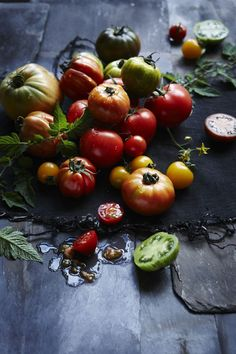 the food dept.: TOMATOES – More tomato recipes from our shoot for delicious maga… the food dept.: TOMATOES – More tomato recipes from our shoot for delicious magazine Raw Food Recipes, Fall Recipes, Healthy Recipes, Food Photography Styling, Food Styling, Life Photography, Fruit And Veg, Fruits And Veggies, Photo Fruit