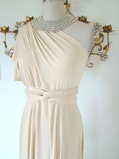 Convertible Wrap Gown -  great for bridesmaids!