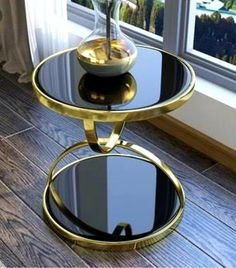 New Tempered Glass End Table for Living Room Metal Round Coffee Table White Round Side Table, Round Coffee Table, Iron Furniture, Table Furniture, Modern Furniture, Tea Table Design, Photos Encadrées, Stainless Steel Coffee Table, Glass End Tables