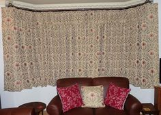 Triple Pleat Lined Curtains for a bay - made using Sew-Helpful's How to make Lined Triple Pleat Curtains Tutorial, FREE online instructions and advice from a professional workroom