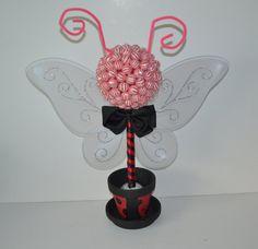 Small Lollipop Topiary Red/Black Ladybug Theme by EdibleWeddings, $44.99