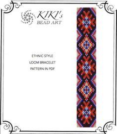 Bead loom pattern Ethnic style LOOM bracelet por KikisBeadArts