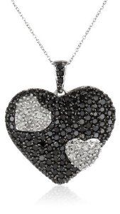 #blackdiamondpendant 10k White Gold Black and White Heart Diamond Pendant Necklace (1 1/2 cttw, I-J Color, I2-I3 Clarity), 18″ by Amazon Curated Collection - See more at: http://blackdiamondgemstone.com/jewelry/necklaces/pendants/10k-white-gold-black-and-white-heart-diamond-pendant-necklace-1-12-cttw-ij-color-i2i3-clarity-18-com/#!prettyPhoto