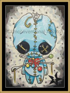 Voodoo Blue Boy cross stitch pattern - Licensed Sugar Fueled by UnconventionalX on Etsy