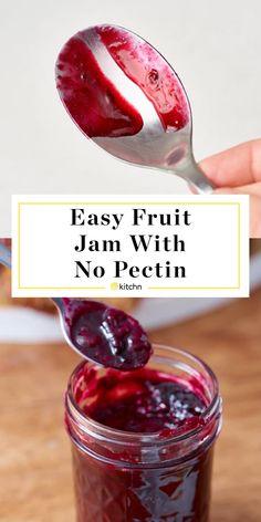 How To Make Basic Fruit Jam Without Pectin Jelly Recipes, Jam Recipes, Canning Recipes, Canning Tips, Freezer Recipes, Blender Recipes, Chef Recipes, Fruit Recipes, Kitchen Recipes
