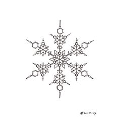 This artist creates unique snowflake drawings based on a grid and formula - he also made an interactive FlakePad so you can make your own, which I do, but they are never as pretty.