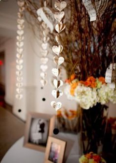 Would be even lovelier with some colored tissue paper hearts interspersed. (Photo by Kevin Paul Photography.)