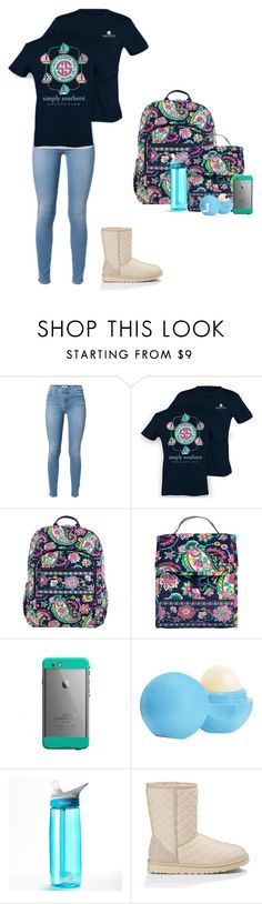 """Untitled #992"" by jackelinhernandez ❤ liked on Polyvore featuring Vera Bradley, Eos, CamelBak and UGG Australia"