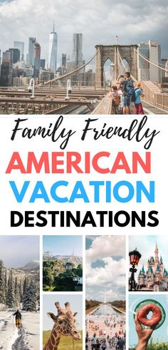 Planning a family vacation? Check out these awesome US family vacation destinations. We have something for everyone whether you like adventure, relaxation, activities or nature. These US family vacation spots are perfect for your next family trip. Us Family Vacations, Best Family Vacation Destinations, Family Vacation Packages, Family Travel, Travel Destinations, Best Family Vacation Spots, Kid Friendly Vacations, Vacation Packing, Family Trips
