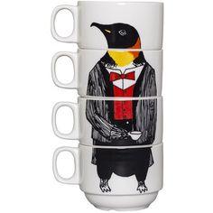 Jimbobart Mr Penguin Stacking Coffee Cups