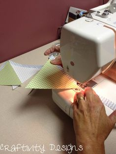 Sewing Paper Banners