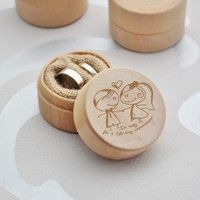 """Wish   """"I'm ready for a life-long commitment"""" Delicate Wood Creative Ring Box Rustic Wedding Ring Jewelry Box Valentine's Day Gift for Girl Friend Boy Friend Engagement Love Affair Engagement Amazing Gift Props(without Rings)"""
