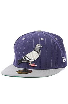 The Pinstripe Pigeon Fitted Hat in Navy Blue by Staple