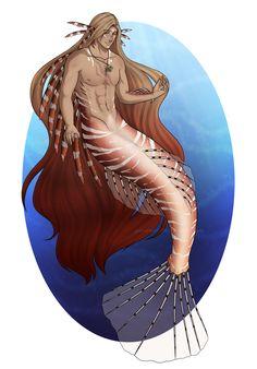 Elliot- MerMay by Mermaid Drawings, Mermaid Man, Fantasy Characters, Male Mermaid, Fantasy Creatures, Mermaid Life, Merman, Underwater Creatures, Mermaid Artwork