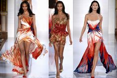 robe nouvel an et trois modèles multicolores créés par Valentint Yudashkin