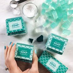 How to Make Ombre Mermaid Soap