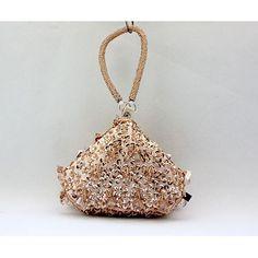 Ivory White Pearl Beaded Silk Bridal Wedding Clutch Bag Purse ...