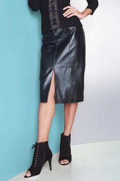 Genuine Leather Pencil Skirt | metrostyle: