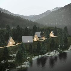 This tiny, minimalist prefab A-frame house features a beautiful wooden exterior and a lot more usable space than you might imagine. Watercolor Architecture, Small Room Design, A Frame House, Affordable Housing, Cabin Homes, Architecture Details, The Great Outdoors, Tiny House, Bungalow
