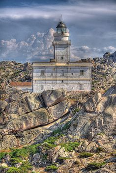 Il Faro Lighthouse, Sardinia, Italy