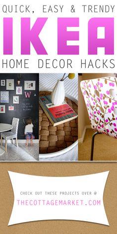 Quick, Easy And Trendy Home Decor IKEA Hacks