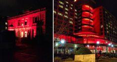 Red town Mona Tasmania, Winter Festival, Australia, Dark, Red