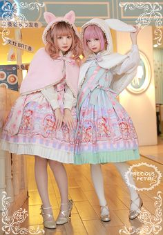 Precious Petal Bunny Ears Cat Ears and Bear Ears Lolita Cape - For Precious Petal Lucky Pack Buyers