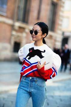 Milan Fashion Week's favourite Panther comes out to play. Shop Gucci's roaring off-the-shoulder knit at MATCHESFASHION.COM
