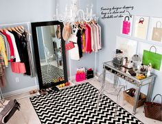 Adore Home Apr/May 2013: great layout for using a spare room as a closet.
