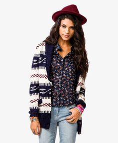 Fair Isle Striped Cardigan | FOREVER21 - 2019666470