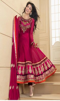 4 simple and beautiful anarkali dress for girls (8)
