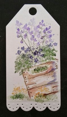 #watercolortheartimpressionsway Watercolor Drawing, Watercolor Cards, Watercolor Flowers, Tea Bag Art, Art Impressions Stamps, Watercolor Bookmarks, Paint Cards, Flower Art, Art Drawings