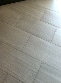Florim Stratos Avorio 12x24 Porcelain Tile Master Bathroom Floor Mapei Grout 93 Warm Gray Update