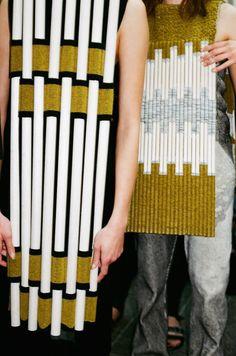 bold knit patterns | CSM BA Fashion 2015 graduates