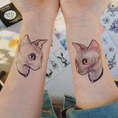 Sphynx Cat Tattoo・L