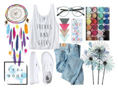 """#37"" by nildaa ❤ liked on Polyvore featuring Dickies, Vans, OTM, colorful and summer2015"