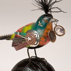 The Fat Finch Boutique for Bird Lovers | Bird with Locket on Bocce Ball Sculpture by Mullanium