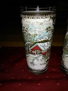 Set of six Johnson brothers Friendly Village old fashioned drinking glasses.    eBay