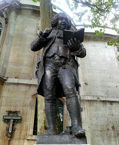 Samuel Johnson #statue in Aldwych, #London.