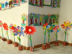 Preschool Classroom Decor, Preschool Crafts, Spring Projects, Spring Crafts, Diy Crafts For Kids, Art For Kids, 1st Grade Crafts, Art N Craft, Toddler Art