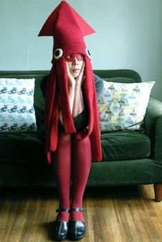Disfraz de calamar para mamá