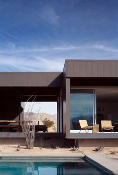 Desert House by Marmol Radziner.  I love open floor plans- especially allowing the outside to be part of your living space. Fantastic!