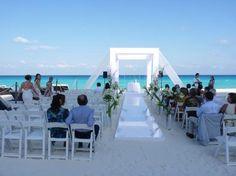 Beach Palace: beach wedding