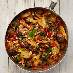 Yotam Ottolenghi's lamb meatballs with braised fennel.Yotam Ottolenghi's lamb meatballs with braised fennel. Yotam Ottolenghi, Ottolenghi Recipes, Lamb Recipes, Meat Recipes, Cooking Recipes, Healthy Recipes, Recipies, Fennel Recipes, Fusion Food