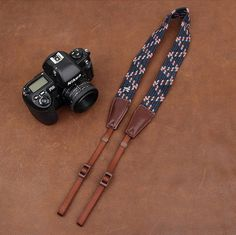 Weaving Style DSLR Deep Blue Sony Nikon Canon Handmade Leather Camera Strap 8792