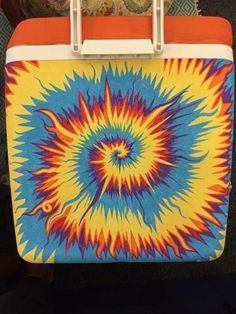 Fraternity Coolers, Frat Coolers, Fraternity Formal, Tie Dye Painting, Cooler Painting, Sorority Canvas, Sorority Paddles, Sorority Recruitment, Sorority Life