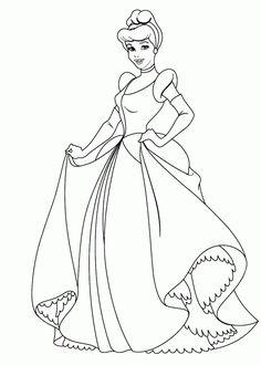 dibujo-colorear-princesa-cenicienta